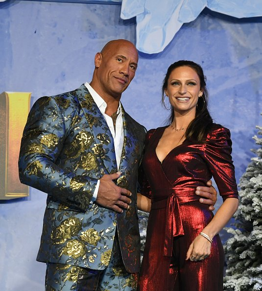 """Dwayne Johnson and Lauren Hashian at the premiere of Sony Pictures' """"Jumanji: The Red Carpet"""" on December 09, 2019 in Hollywood, California.   Photo: Getty Images"""
