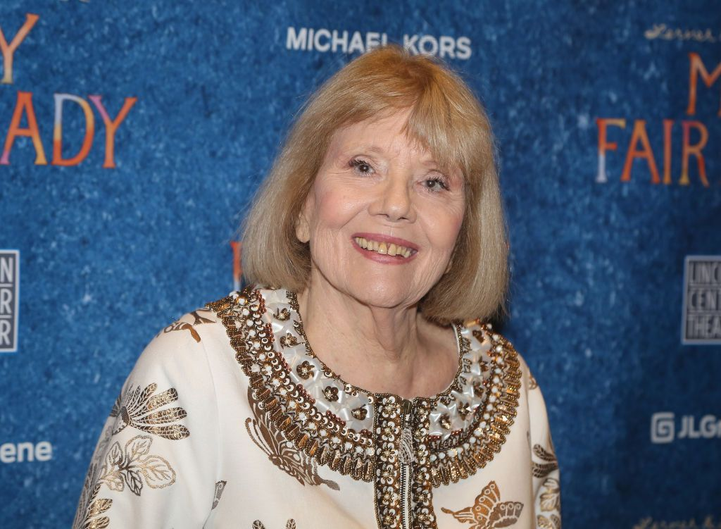 """Late Dame Diana Rigg at the opening night after party for Lincoln Center Theater's production of """"My Fair Lady"""" on Broadway at David Geffen Hall on April 19, 2018 in New York City. 