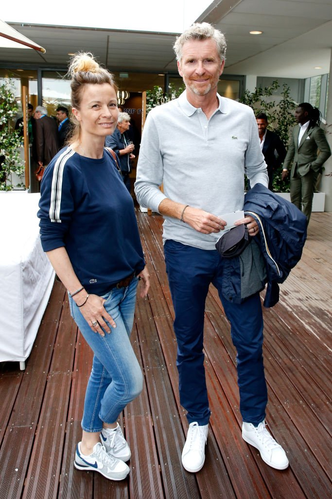 Denis Brogniart et Hortense Brogniart assistent à l'Open de France 2018 - Jour 3 à Roland Garros le 29 mai 2018 à Paris, France. | Photo : Getty Images
