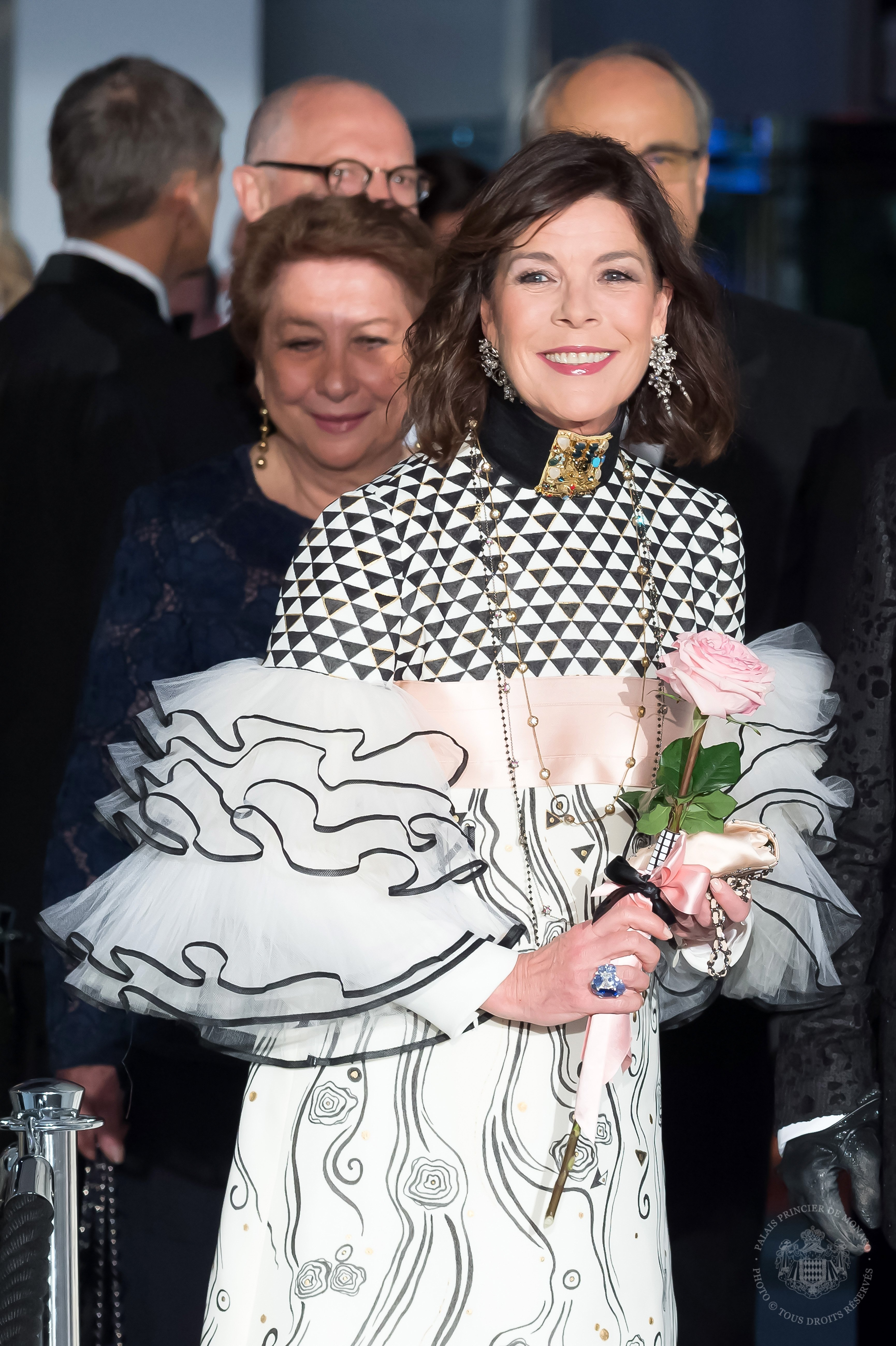 Princess Caroline of hanover at the Rose Ball 2017 To Benefit The Princess Grace Foundation at Sporting Monte-Carlo on March 18, 2017 | Source: Getty Images