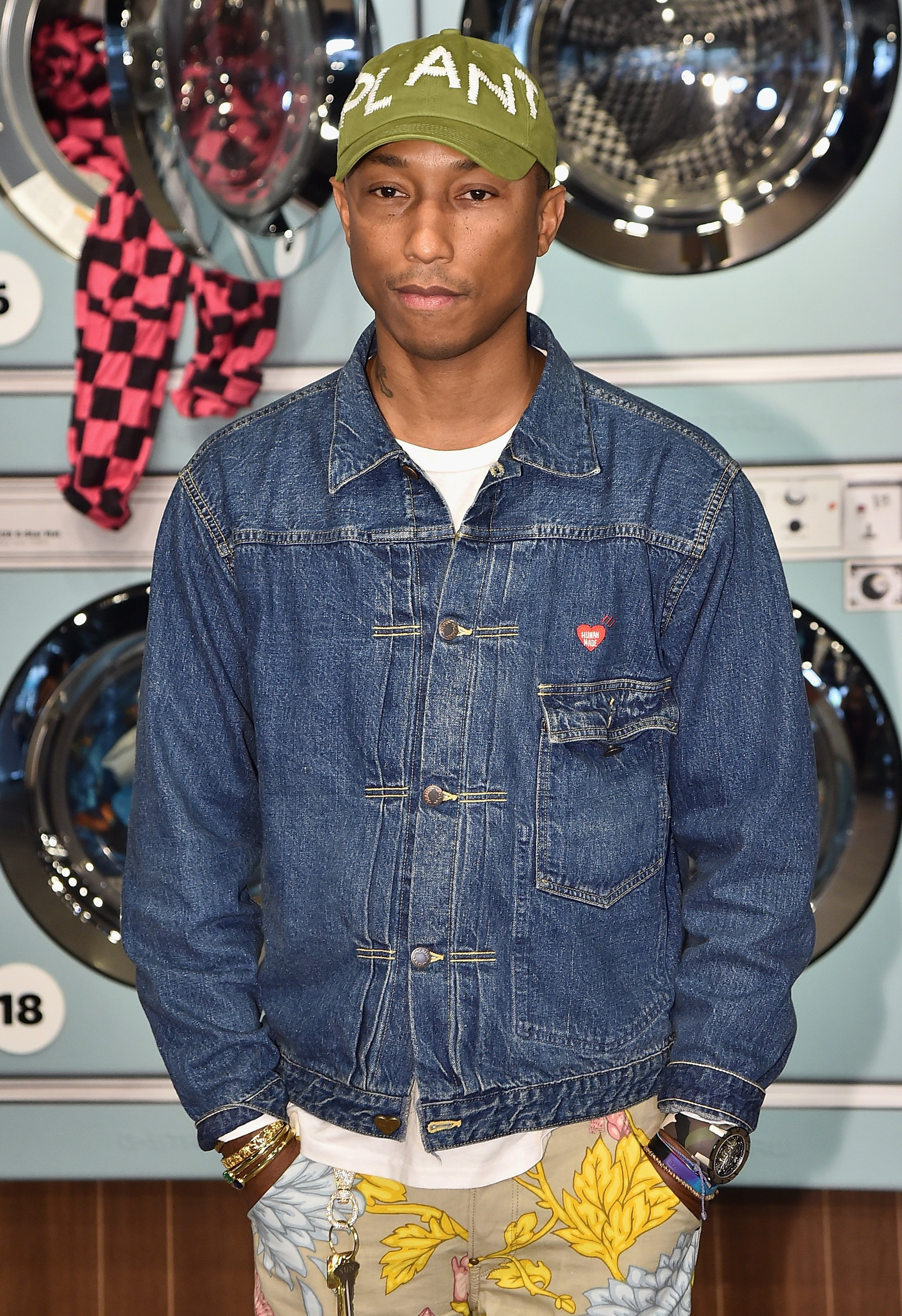 Pharrell Williams at New York Fashion Week on Sept. 13, 2017 in New York City   Photo: Getty Images