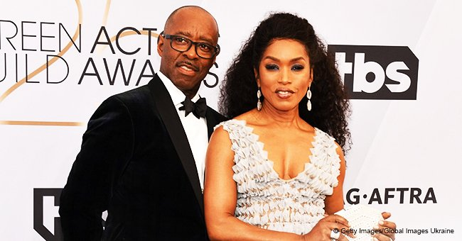 Angela Bassett defies her 60 years in plunging dress with high slit in pics with husband of 21 yrs