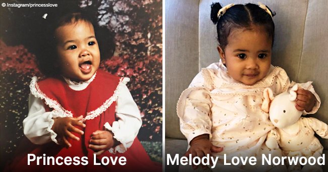 Princess Love shares baby photo, showing her uncanny resemblance to daughter Melody