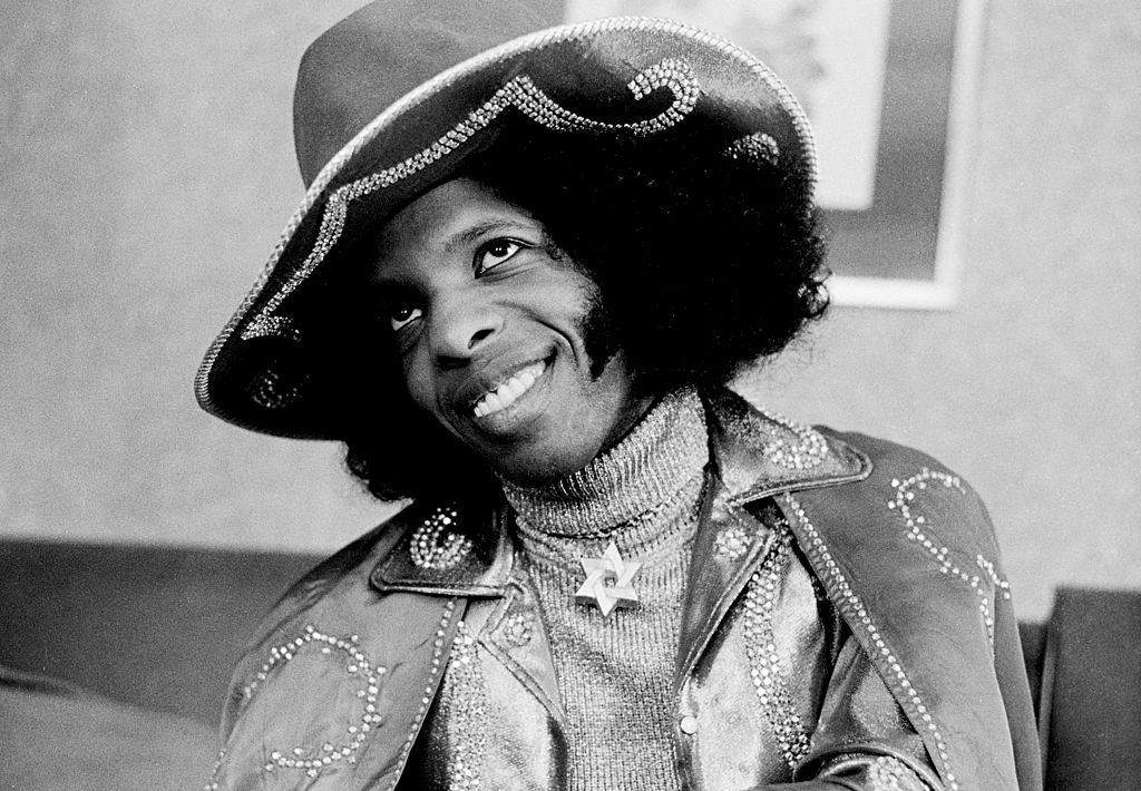 Sly Stone of Sly And The Family Stone posed in London on 16th July 1973.   Photo: Getty Images