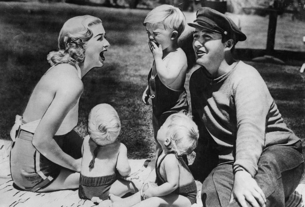 Bing Crosby (1903 - 1977) with his wife, actress Dixie Lee and their children Gary, Phillip and Dennis in 1935. | Getty Images / Global Images Ukraine