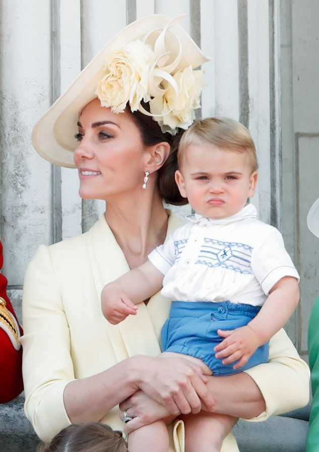 Catherine, Duchess of Cambridge and Prince Louis of Cambridge on the balcony of Buckingham Palace during Trooping The Colour, the Queen's annual birthday parade, on June 8, 2019 | Photo: Getty Images