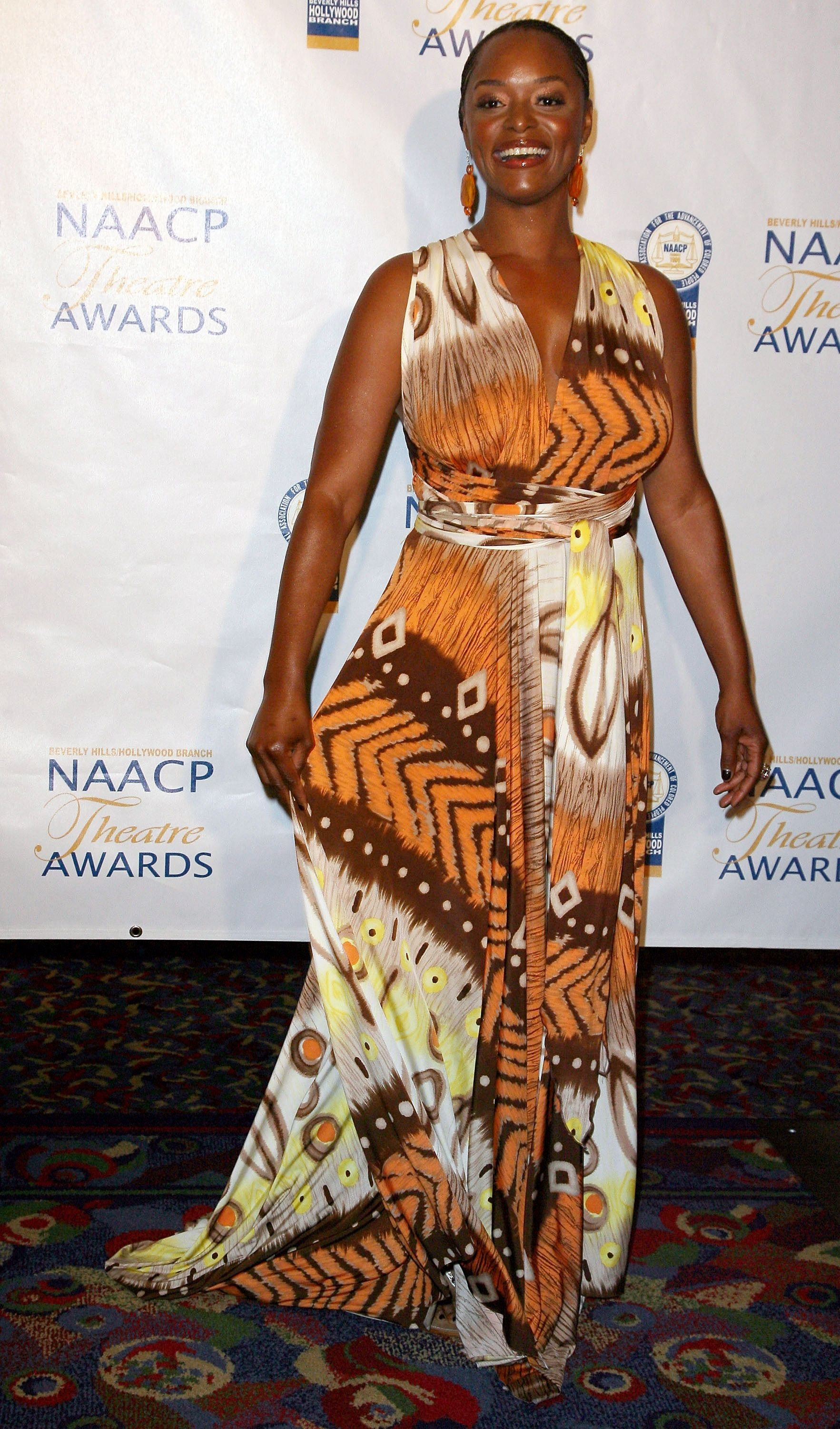 Actress N'Bushe Wright attends the 18th Annual NAACP Theatre Awards at the Renaissance Hotel on June 30, 2008 in Los Angeles, California. | Source: Getty Images