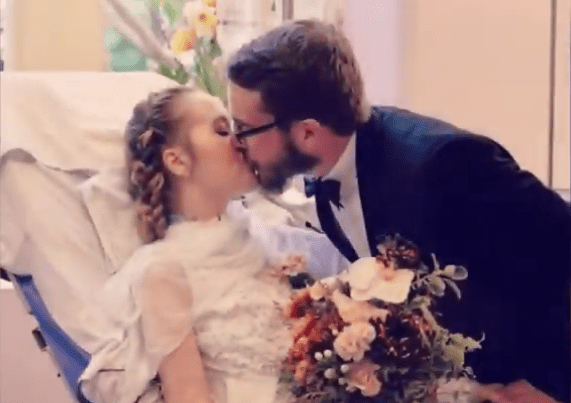 Couple getting married in ICU ceremony after bride was diagnosed with stage 4 cancer.| Photo: YouTube/ Blair  Shiff.