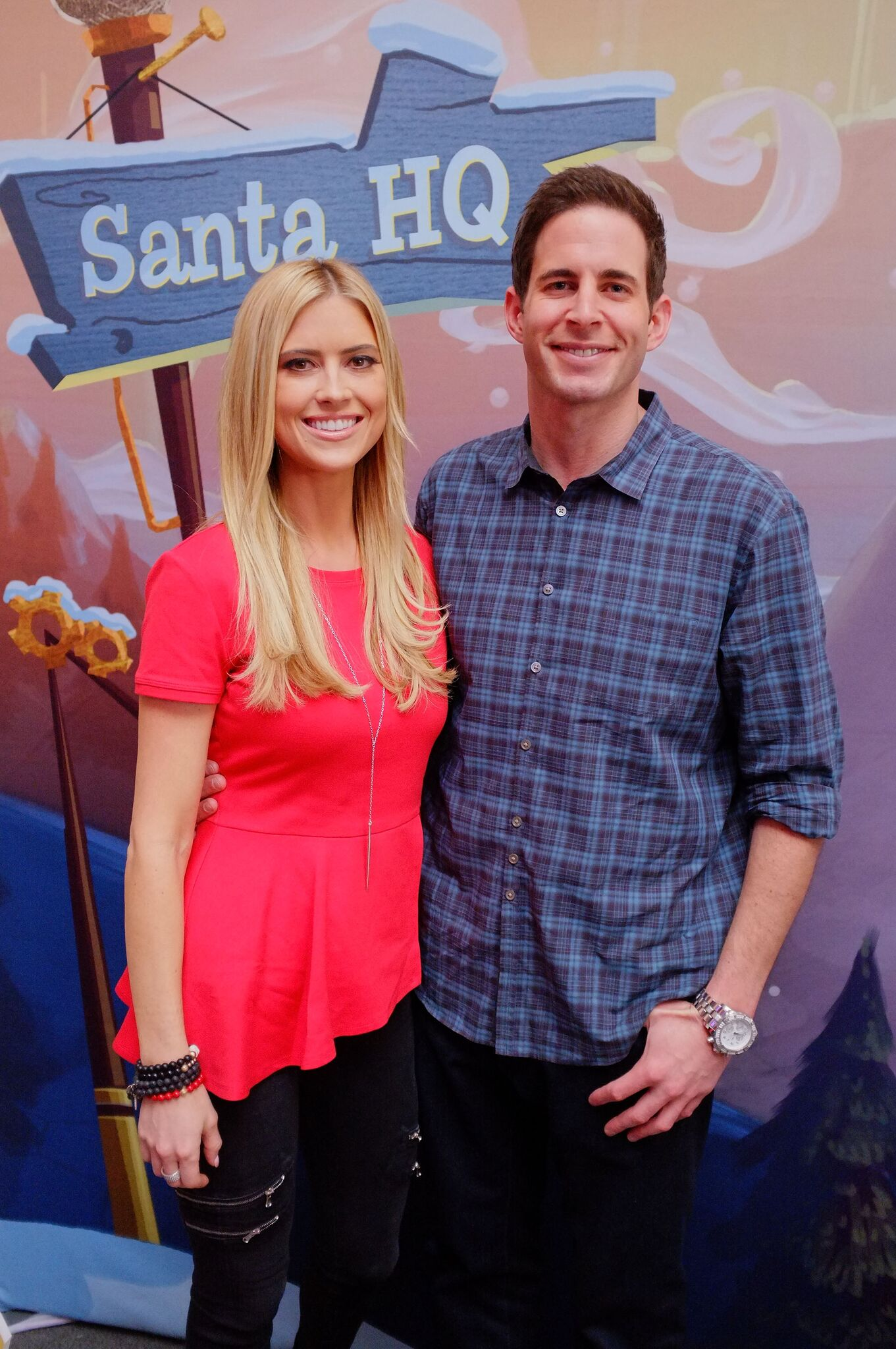 Tarek and Christina El Moussa visited the HGTV Santa HQ | Getty Images