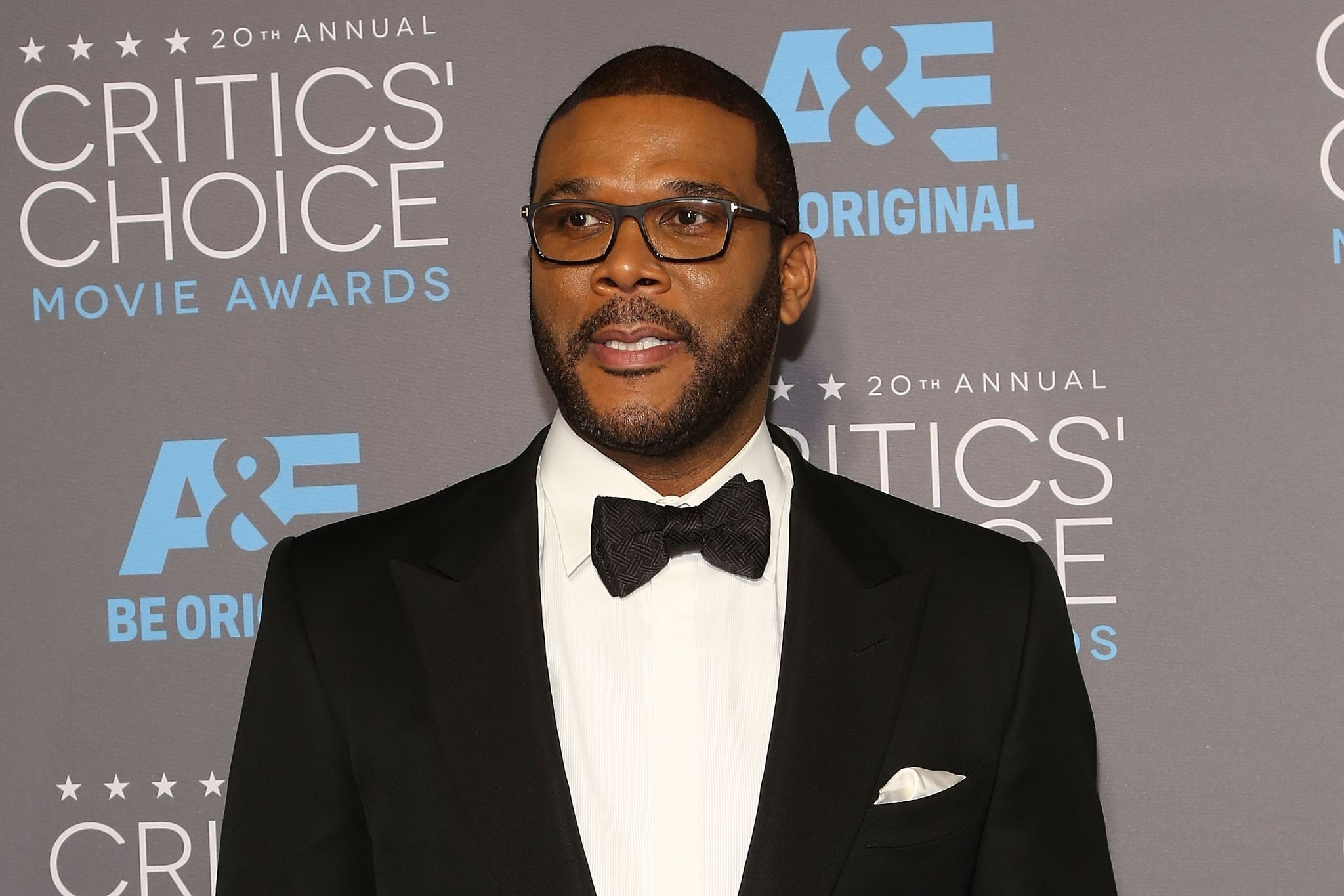 Tyler Perry at the 20th Annual Critics' Choice Movie Awards in 2015 in Los Angeles | Source: Getty Images