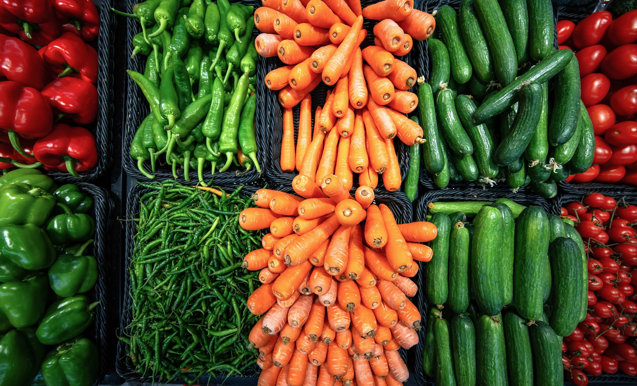 Fresh and colourful vegetables   Photo: Getty Images