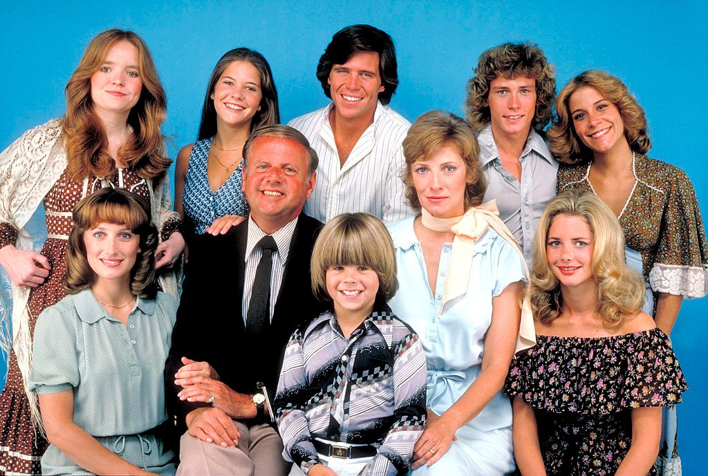 "Willie Aames with the cast of ""Eight is Enough"" in 1978 