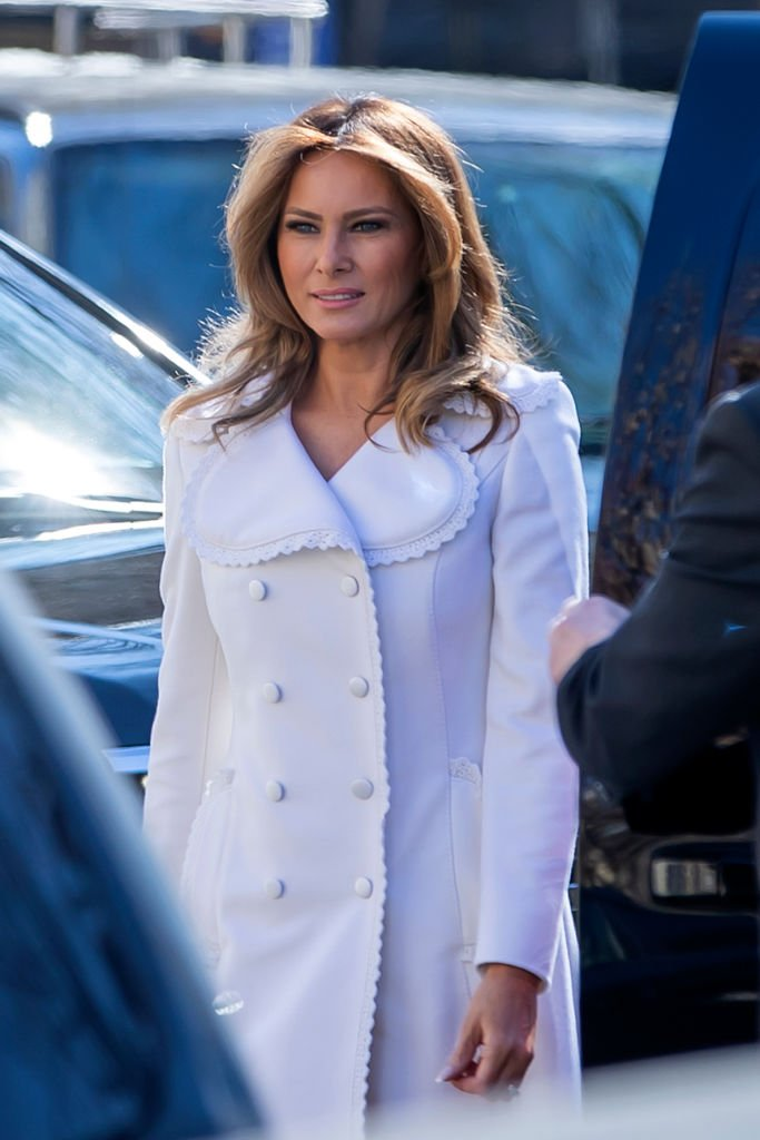 Melania Trump attending church service at St. John's Church for St. Patrick's Day   Photo: Getty Images