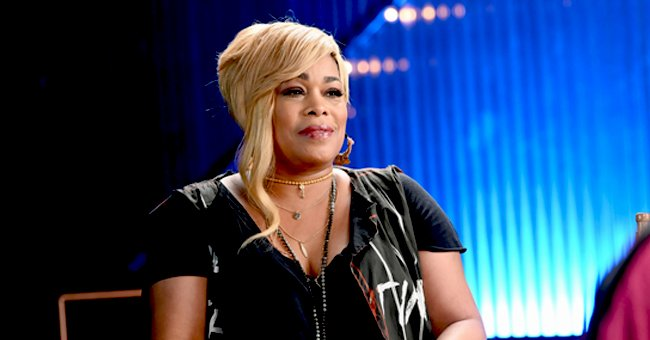 TLC's T-Boz's Only Daughter Chase Shows off Ponytails & Fit Belly in a White Top & Ripped Jeans