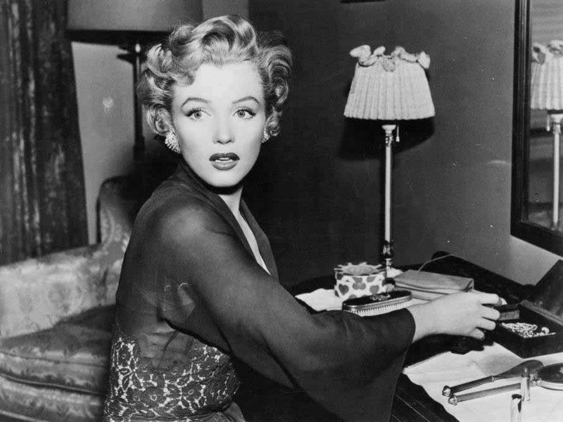 """Marilyn Monroe as a mentally disturbed babysitter in the 1952 film, """"Don't Bother to Knock"""" 