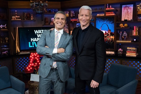Andy Cohen and Anderson Cooper on set of Watch What Happens Live With Andy Cohen | Photo: Getty Images