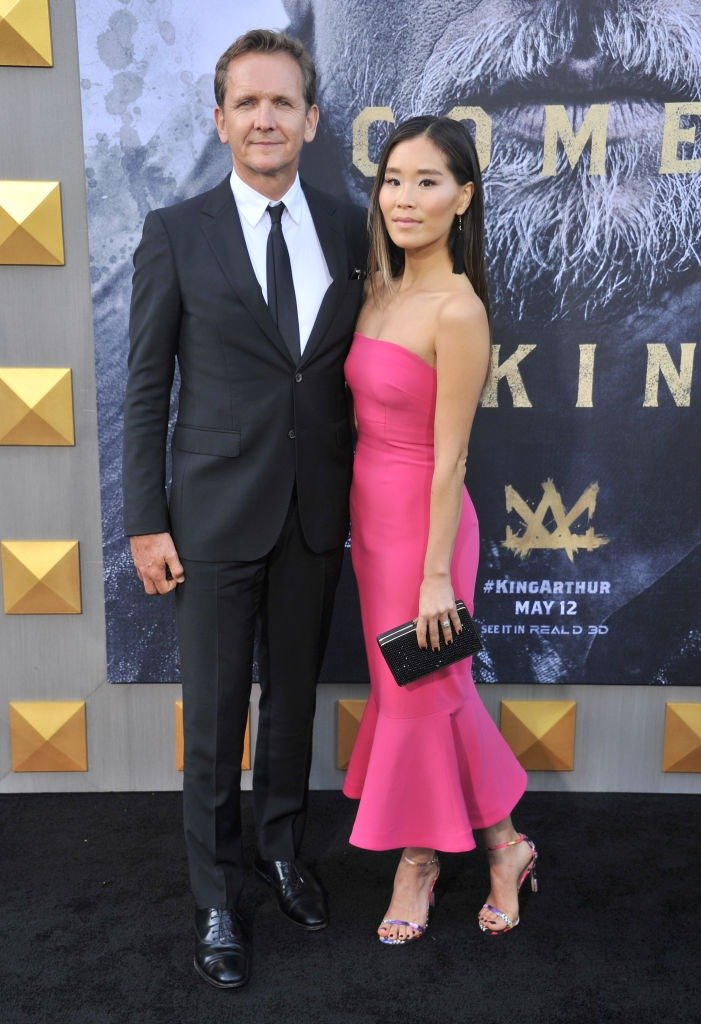 """Sebastian Roche and Alicia Hannah arrive at the premiere of Warner Bros. Pictures' """"King Arthur: Legend Of The Sword"""" at TCL Chinese Theatre on May 8, 2017 