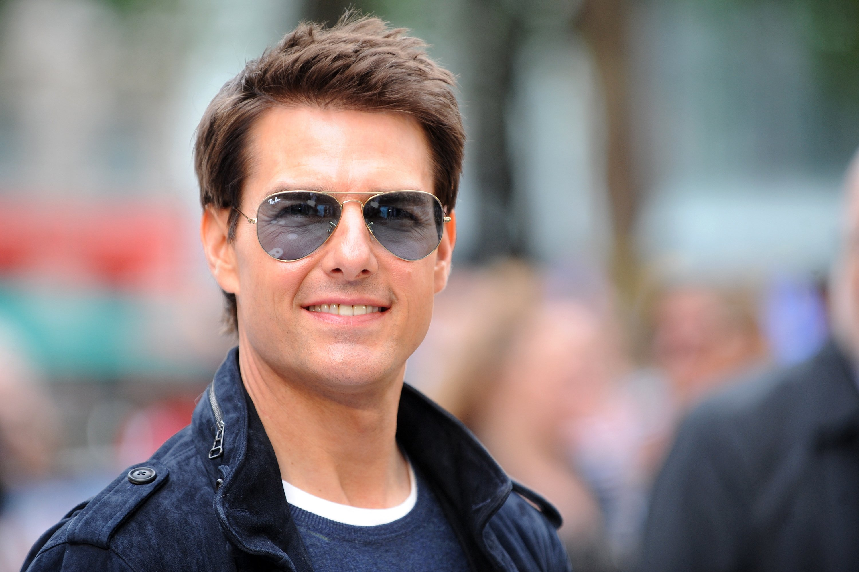 """Tom Cruise attends the European premiere of """"Rock Of Ages"""" at Odeon Leicester Square on June 10, 2012, in London, England. 