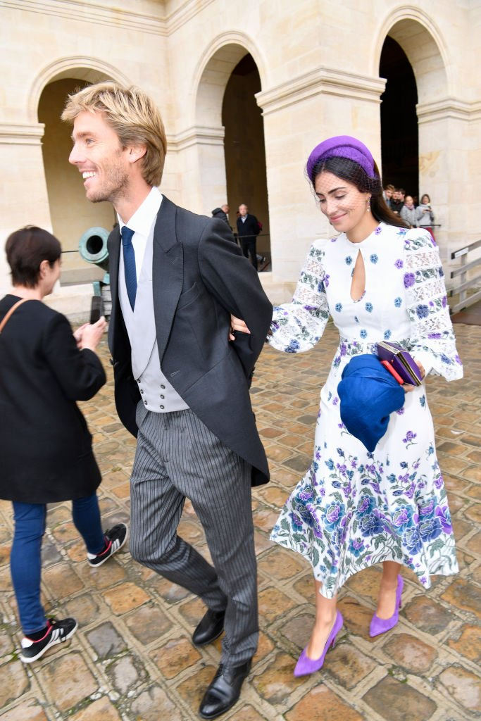 Le prince Christian de Hanovre et sa femme la princesse Alessandra de Osma le 19 octobre 2019 à Paris. l Photo : Getty Images
