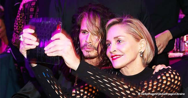Steven Tyler and Sharon Stone totally steal the show at Grammy Awards viewing party