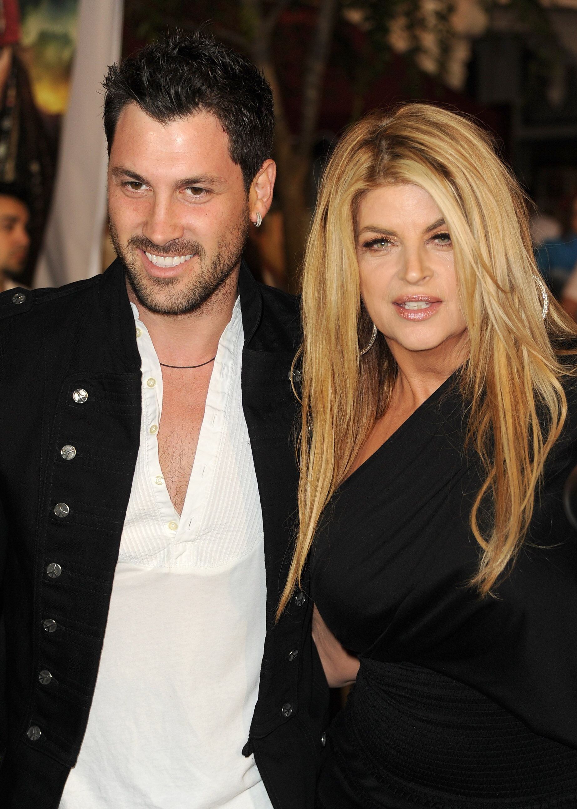 """Maksim Chmerkovskiy and actress Kirstie Alley arrive at premiere of Walt Disney Pictures' """"Pirates of the Caribbean: On Stranger Tides"""" held at Disneyland 