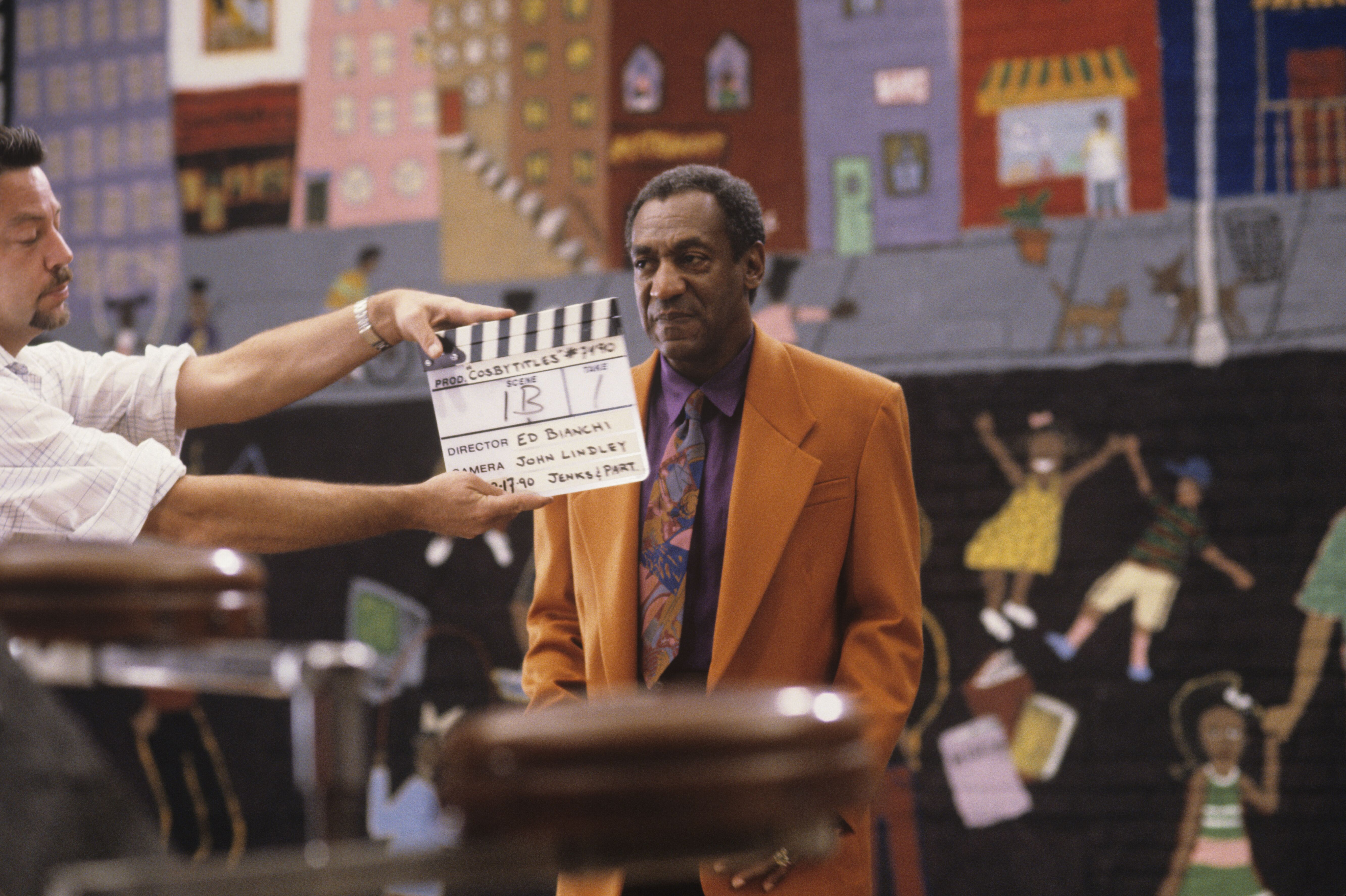 Bill Cosby filming an opening sequence in New York in 1990 | Photo: Getty Images