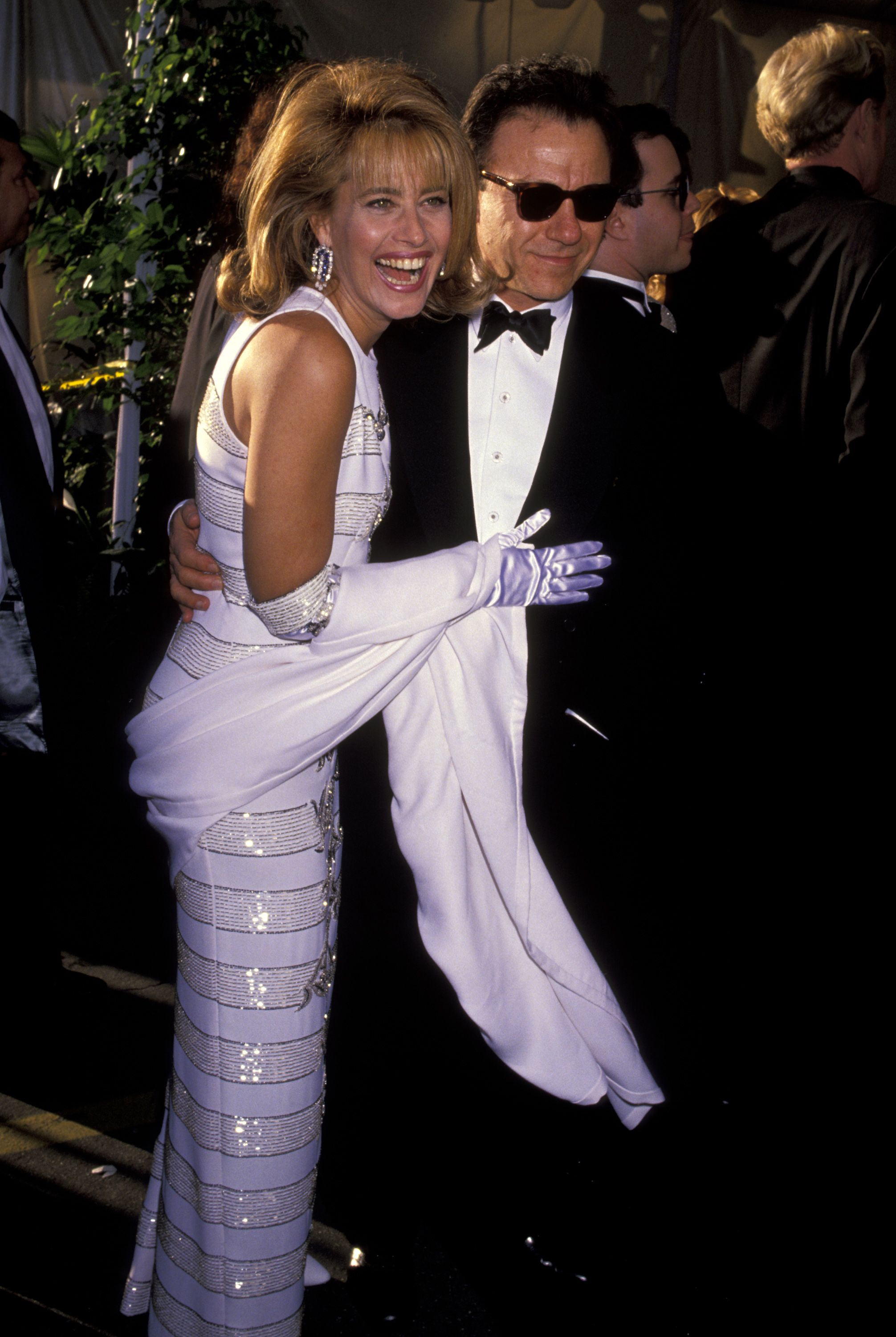 Lorraine Bracco and Harvey Keitel at the 63rd Annual Academy Awards in 1991 in Los Angeles   Source: Getty Images