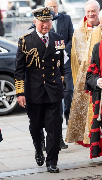 Prince Charles, Prince of Wales attends a Service of Thanksgiving for the life and work of Sir Donald Gosling at Westminster Abbey | Photo: Getty Images