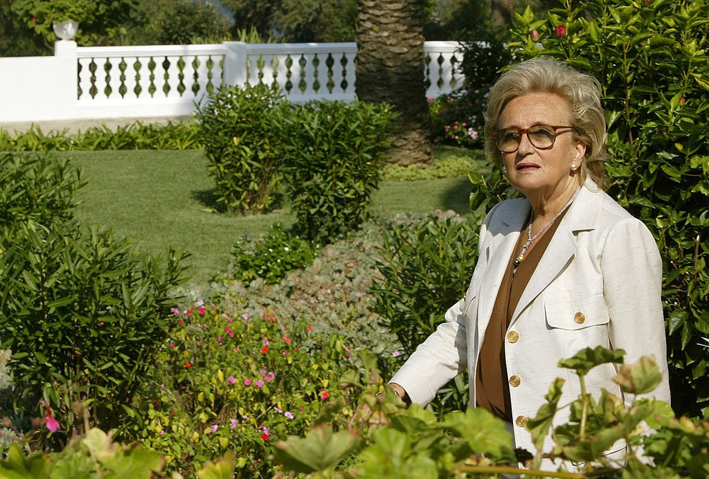 Bernadette Chirac le 11 octobre 2003 au Maroc. l Source : Getty Images