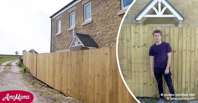 Couple returned from honeymoon to find their dream home fenced in