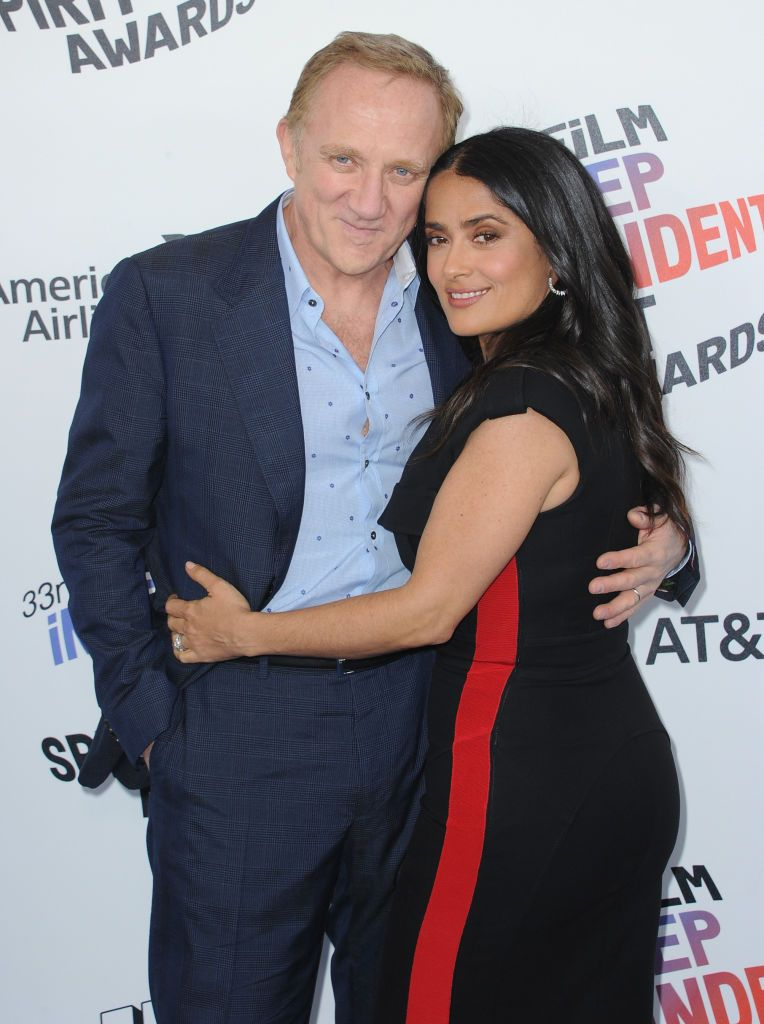 François-Henri Pinault and Salma Hayek at the 2018 Film Independent Spirit Awards in Santa Monica, California | Source: Getty Images