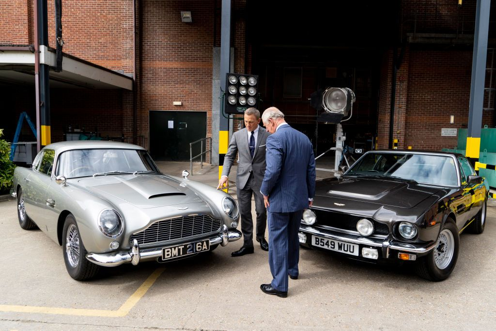 Prince Charles and Daniel Craig on set of the 25th James Bond Film at Pinewood Studios on June 20, 2019 in Iver Heath, England.   Source: Getty Images