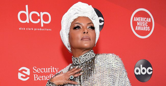 See Taraji P Henson in This Unforgettable Sequin Mini Dress & Silver Stilettos at the 2020 AMAs