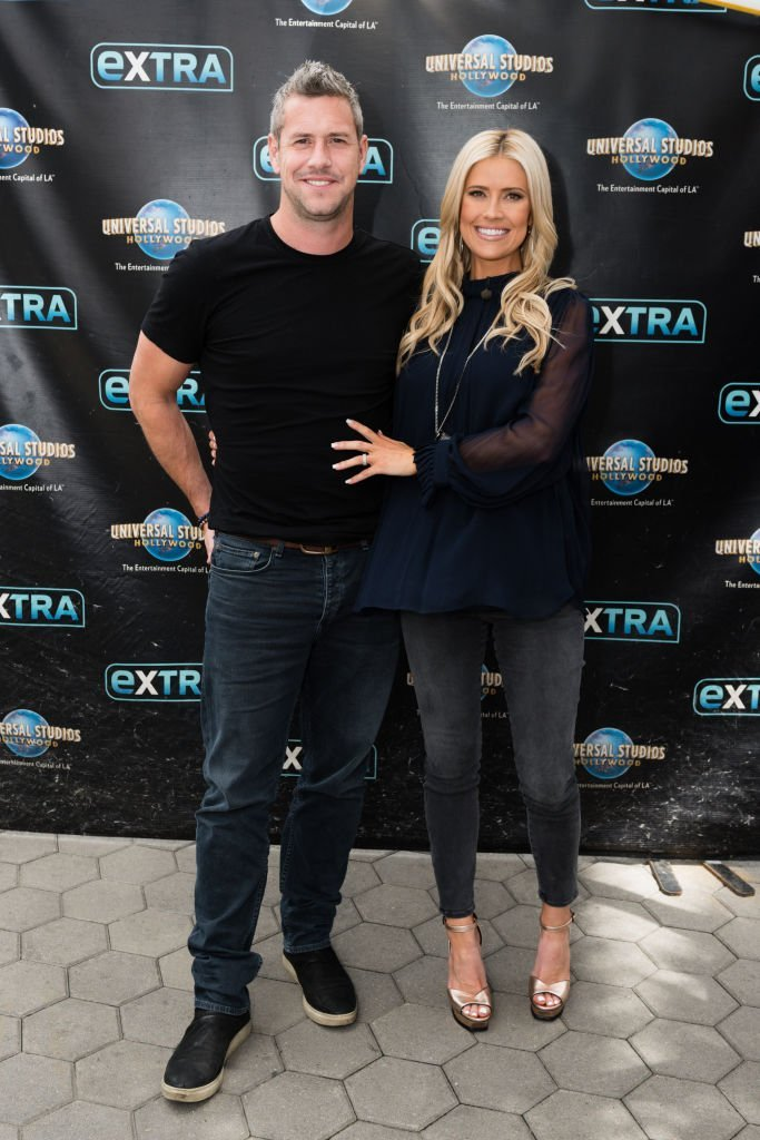 """Ant Anstead and wife Christina Anstead visit """"Extra"""" at Universal Studios in Universal City, California on May 22, 2019 