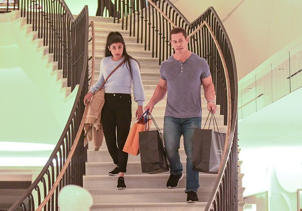 Shay Shariatzadeh and John Cena are seen on January 14, 2020 in Los Angeles, California.   Photo: Getty Images