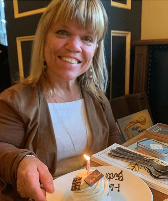 Amy Roloff smiles brightly at the camera while celebrating her birthday | Instagram: @amyjroloff