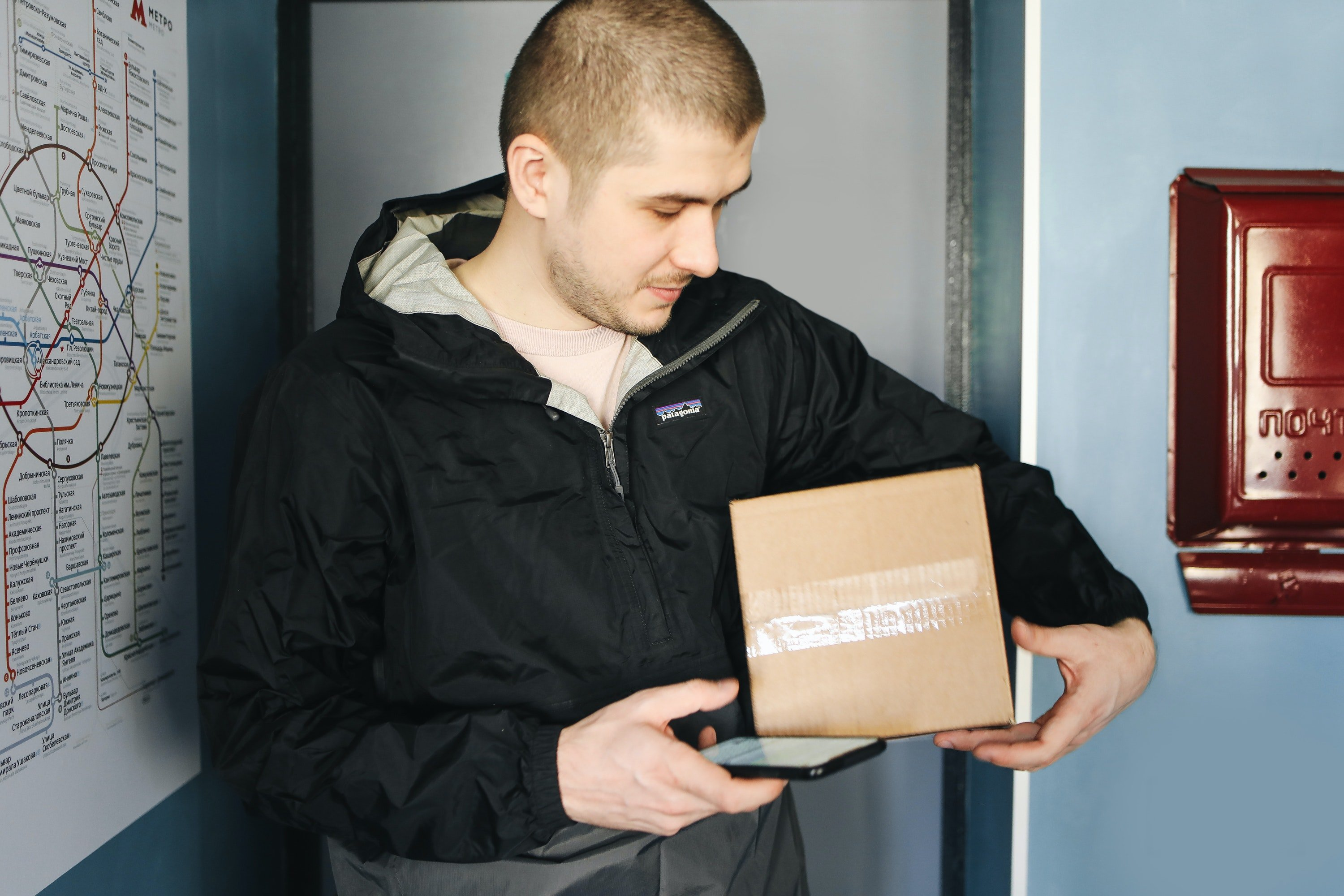 Aaron was happy after completing his first delivery | Photo: Pexels