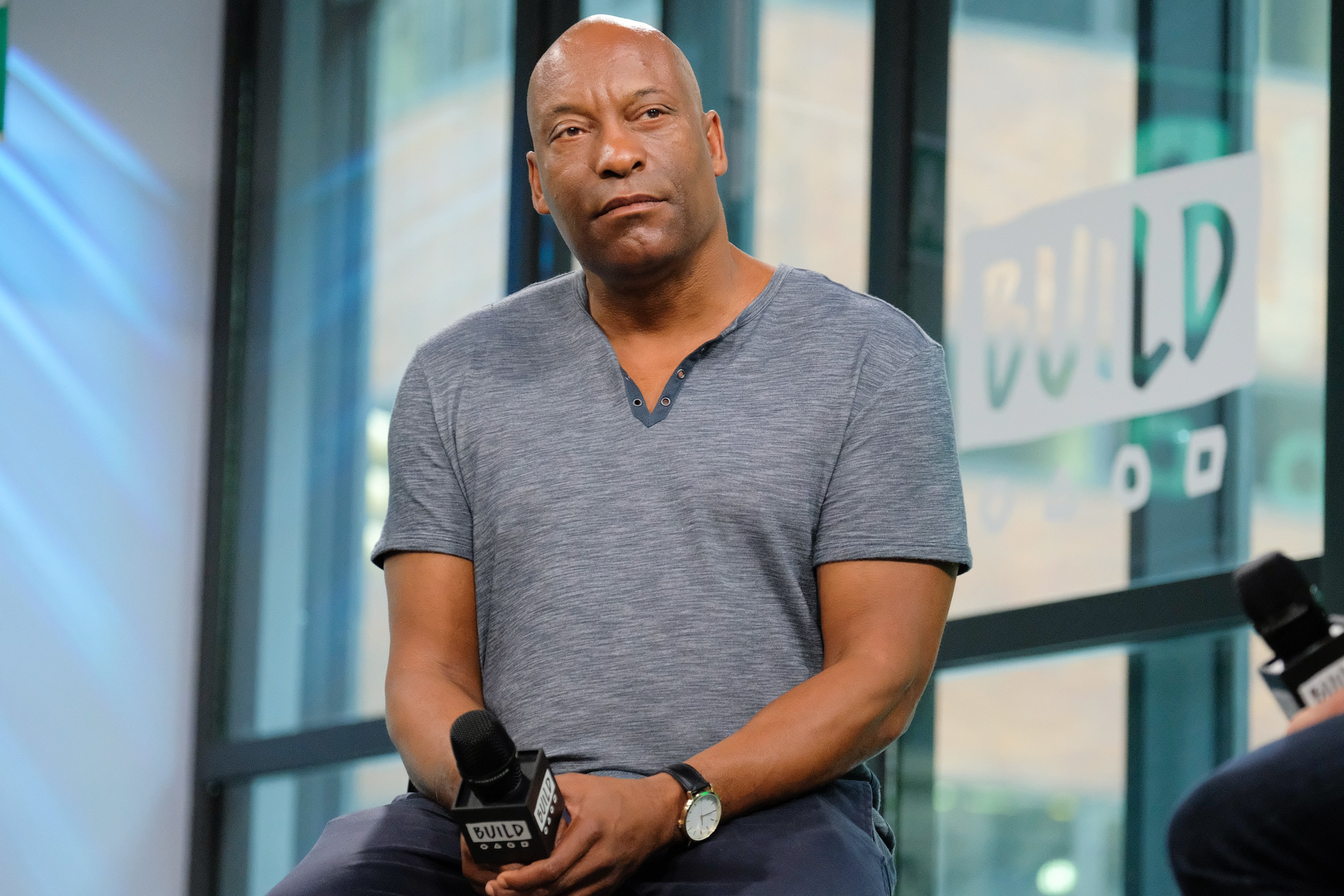 "John Singleton discusses the new TV series ""Snowfall"" at Build Studio on July 20, 2017. 