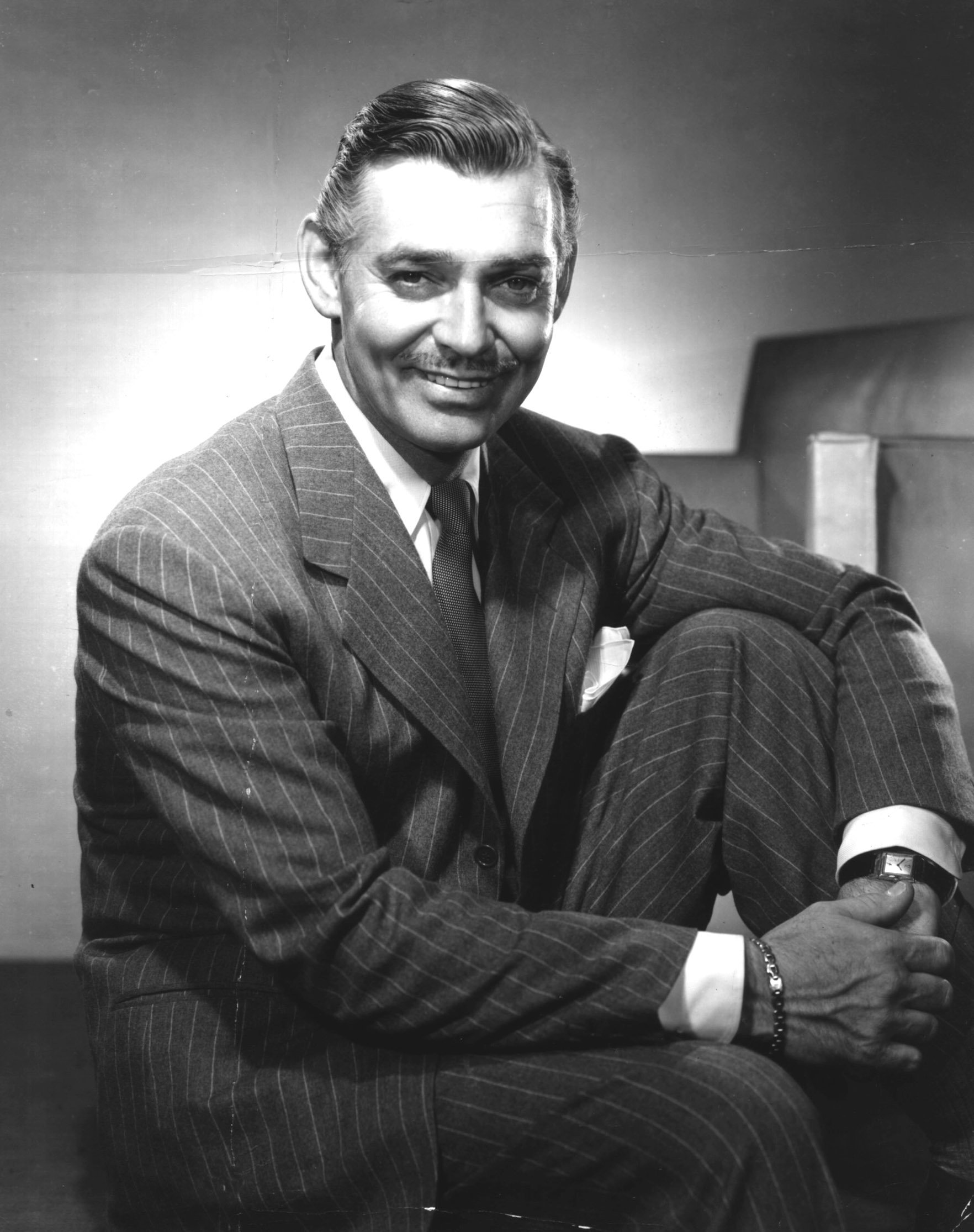 A portrait of American actor Clark Gable (1901-1960) c. 1940. | Source: Getty Images.