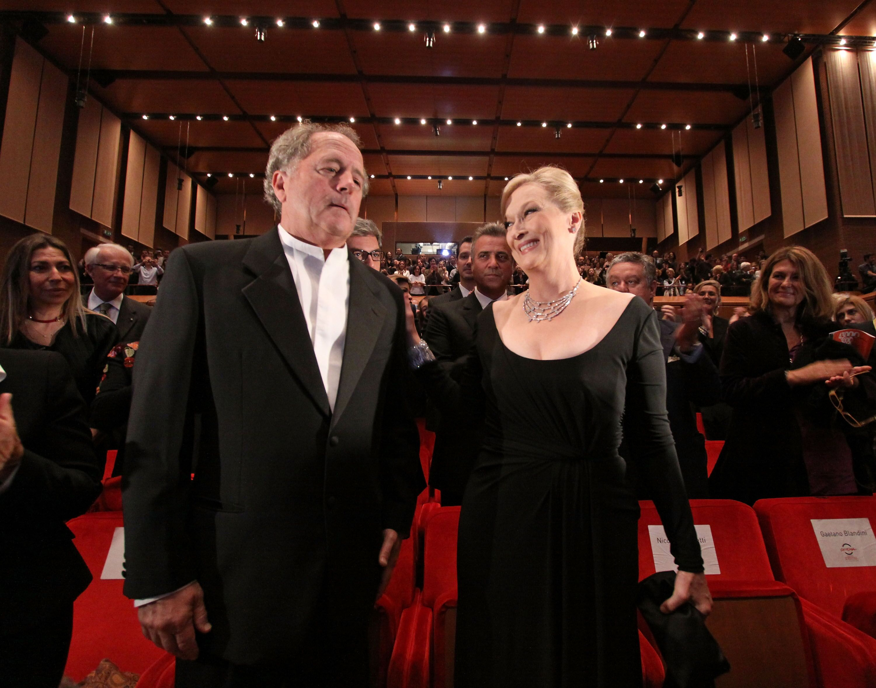Meryl Streep and her husband Don Gummer during the Official Awards Ceremony. | Source: Getty Images
