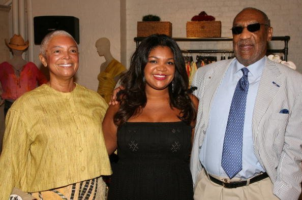 Camille Cosby, Evin Cosby and Bill Cosby attend the launch of the PB&Caviar store on August 7, 2008, in New York City. | Source: Getty Images