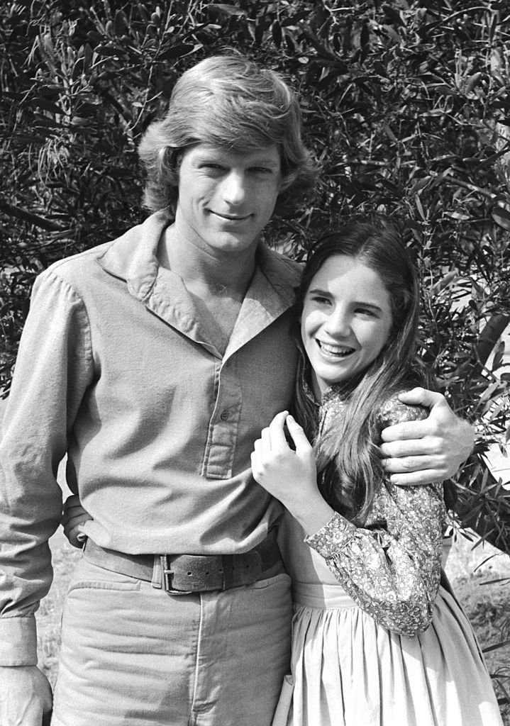 "Dean Butler as Almanzo James Wilder, Melissa Gilbert as Laura Elizabeth Ingalls Wilder in ""LittleHouse on the Prairie,"" 1979 