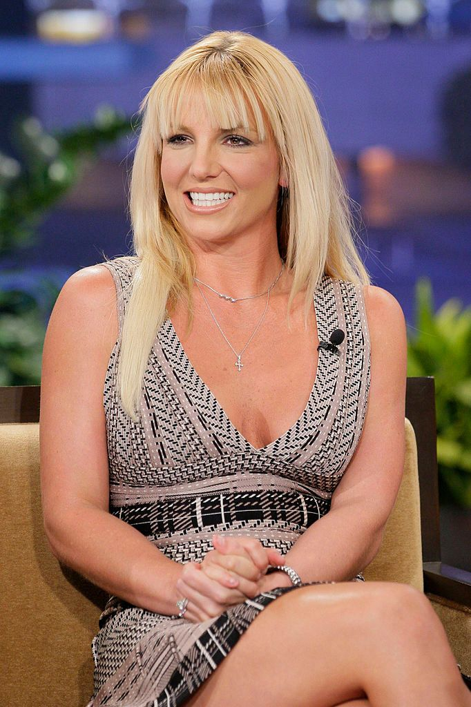"""Britney Spears during an interview with host Jay Leno at the """"Tonight Show"""" on October 29, 2012   Photo: Getty Images"""