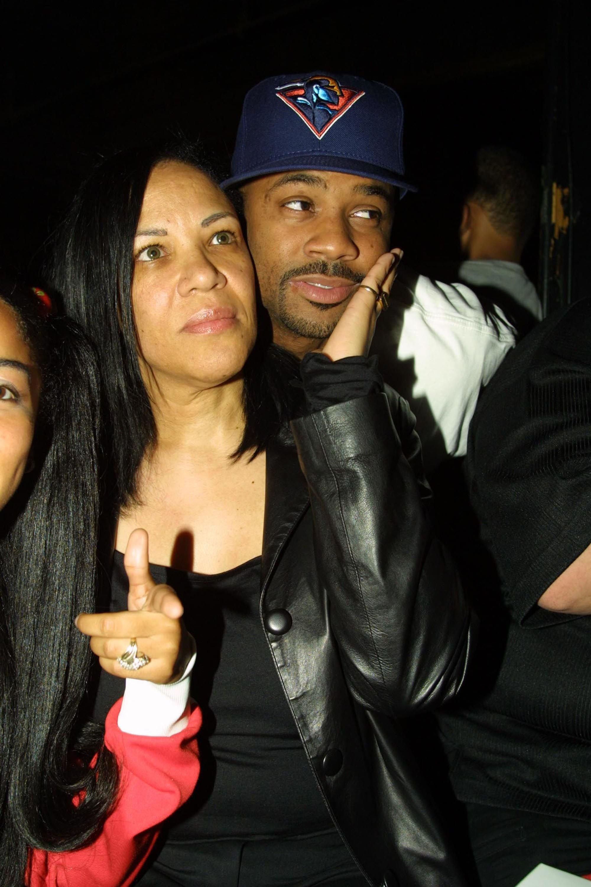 Aaliyah's mom, Diane Haughton, and Damon Dash at the DKNY and Vanity Fair Present In Concert Series in New York City in 2002 | Source: Getty Images