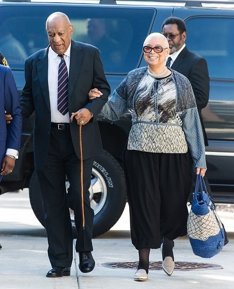 Bill Cosby and wife Camille Cosby arrive at Montgomery County Courthouse | Photo: Getty Images