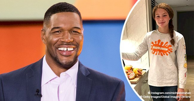 Michael Strahan steals hearts with photo of one of his twin daughters who has become really tall