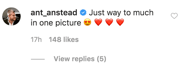 Ant Anstead comments on a picture of his son Hudson Anstead smiling while in the arms of his wife Christina Anstead | Source: instagram.com/chitistinaanstead