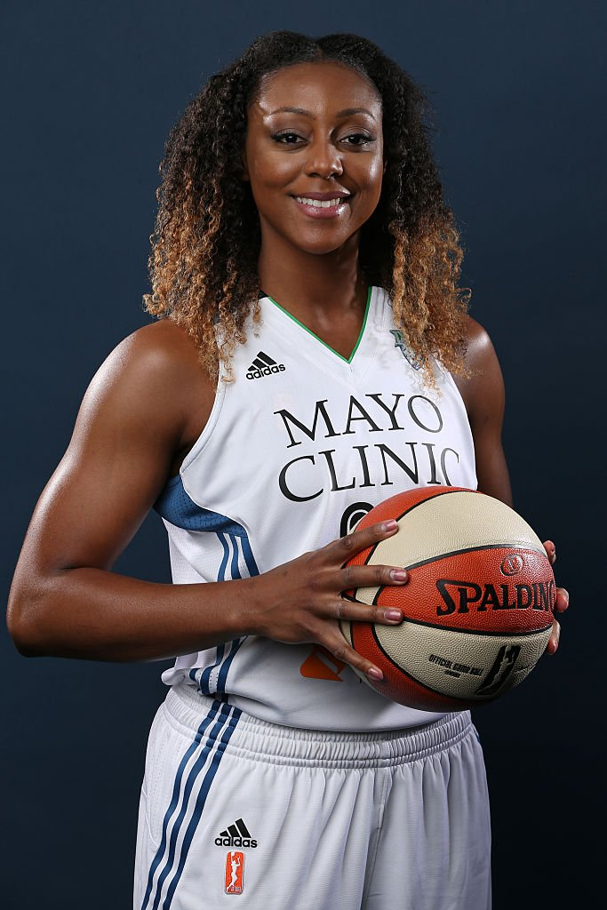 : Monica Wright #22 of the Minnesota Lynx poses for a portrait during 2015 Media Day on May 28, 2015 at Mayo Clinic Square in Minneapolis, Minnesota | Copyright 2015 NBAE (Photo by David Sherman/NBAE via Getty Images)