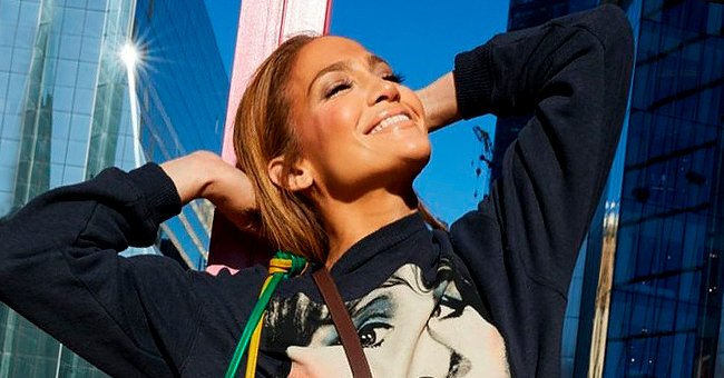 Jennifer Lopez Is Absolutely Glowing in a Cozy Blue Tracksuit Paired with Colorful Sneakers