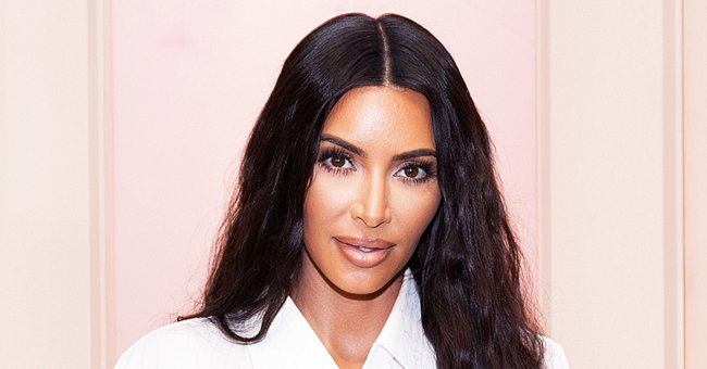 Kim Kardashian Flaunts Her Phenomenal Figure as She Poses in Beige SKIMS in New Photos